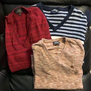 3 Men's Express V Neck Sweater